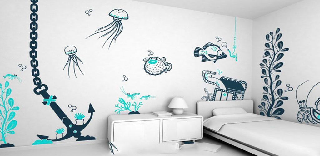 تاثیر طرح و نقش روی دیوار اتاق خواب کودکان